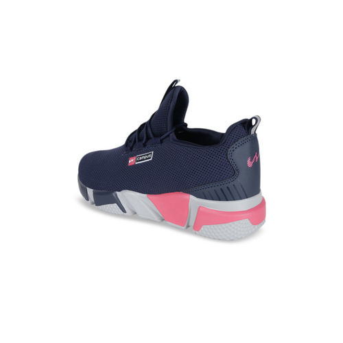 Campus Women Navy Blue Mesh Running Shoes