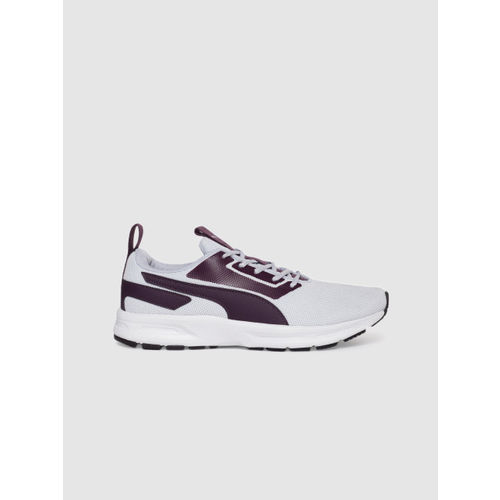Puma Women Off-White & Purple Vertex Pro Running Shoes