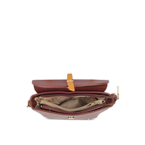 Mochi Women Brown Solid Satchel Bag