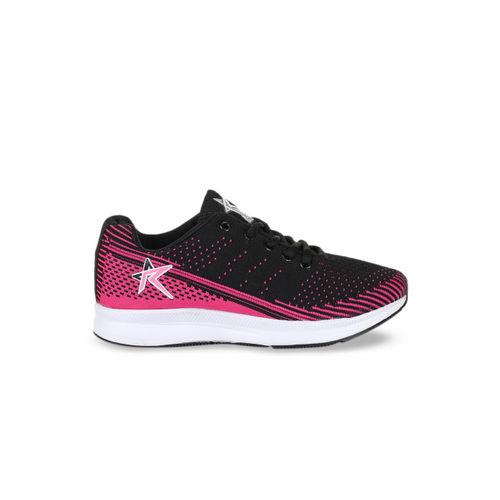 REFOAM Women Black Mesh Running Shoes