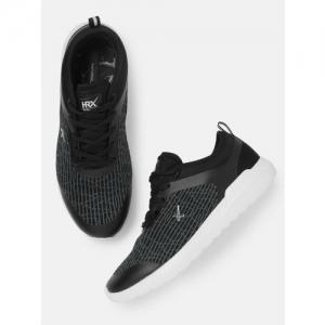 HRX by Hrithik Roshan Women Black Mesh Running Shoes