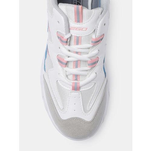 2GO Women White& Pink Running Shoes