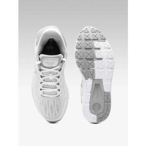 UNDER ARMOUR Women White & Grey Charged Rogue Woven Design Running Shoes