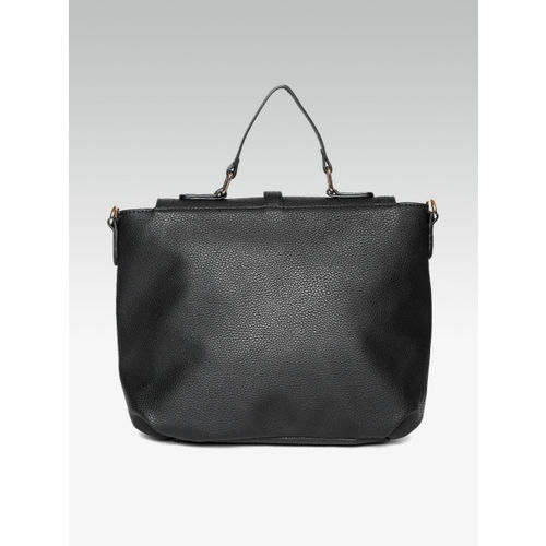 DOROTHY PERKINS Black Solid Satchel Bag