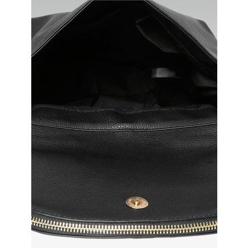 DOROTHY PERKINS Black Solid Satchel Bag