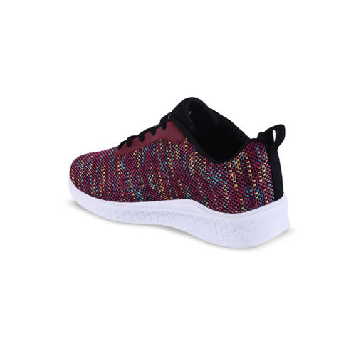 Campus Women Maroon Mesh Running Shoes