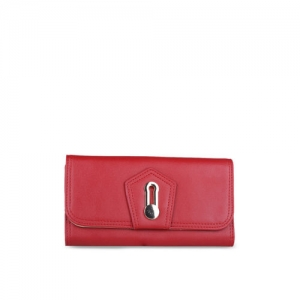 GIORDANO Women Red Solid Three Fold Wallet