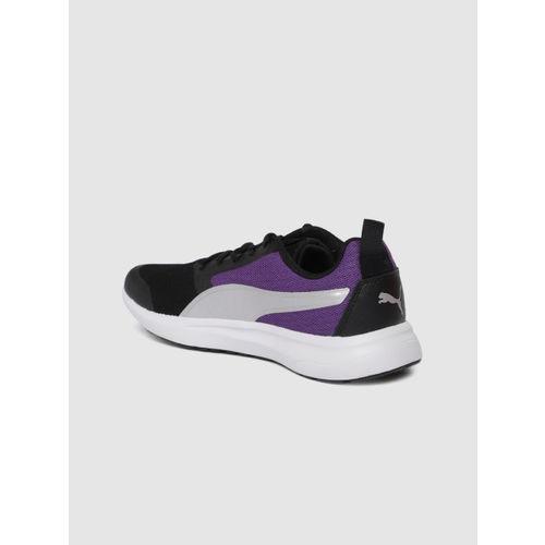 Puma Women Black & Purple Breakout Wn'S Idp Running Shoes