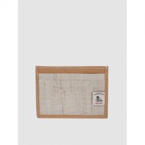 Raymond Men Beige Solid Card Holder