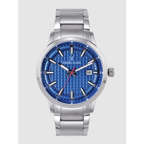 Daniel Klein Men Blue Textured Analogue Watch DK12230-2