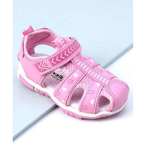 Cute Walk by Babyhug Sandals Heart Print - Pink