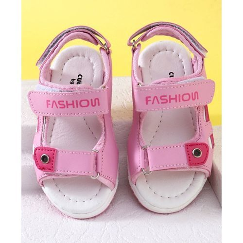 Cute walk by Babyhug Sandals Fashion Print - Light Pink