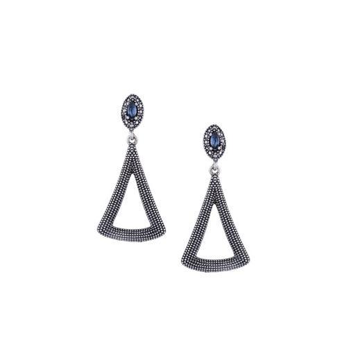 E2O Black Contemporary Drop Earrings