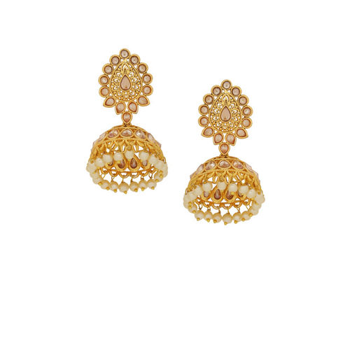 Voylla Gold-Toned Dome Shaped Jhumkas