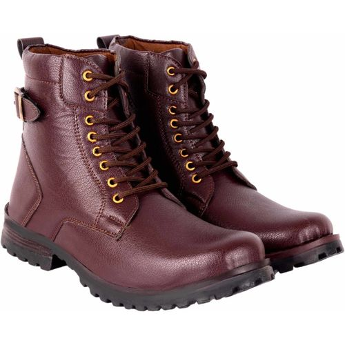 ZONAC HIKING LONG BOOTS FOR MEN Boots For Men(Brown)