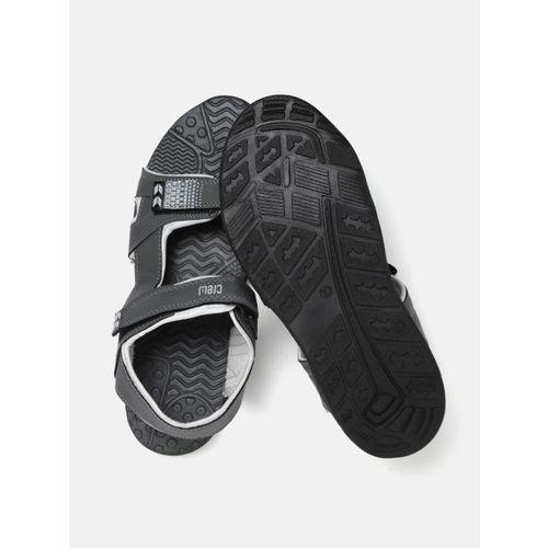 Crew STREET Men Charcoal Grey Sports Sandals