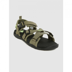 ADIDAS Men Olive Green Solid Gladi II Sports Sandals