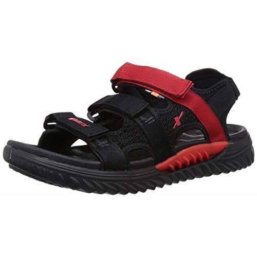 Sparx Ss0509g Black Synthetic Leather Velcro Sandals