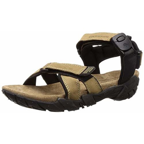 Woodland Men's Gd 2663117_Khaki Leather Outdoor Sandals-7 UK (41 EU) (8 US) 2663117KHAKI
