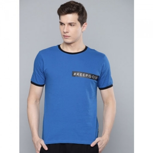 HRX by Hrithik Roshan Men Lifestyle Blue Printed Round Neck T-shirt