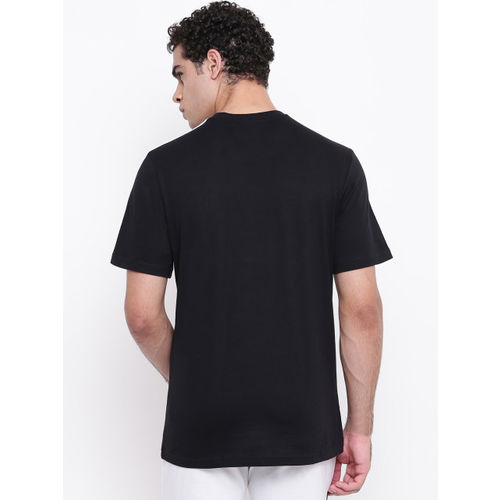ADIDAS Men Black E 3S Solid Round Neck T-shirt