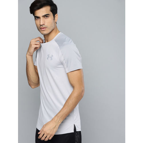 UNDER ARMOUR Men Grey MK1 Short Sleeve Emboss T-shirt