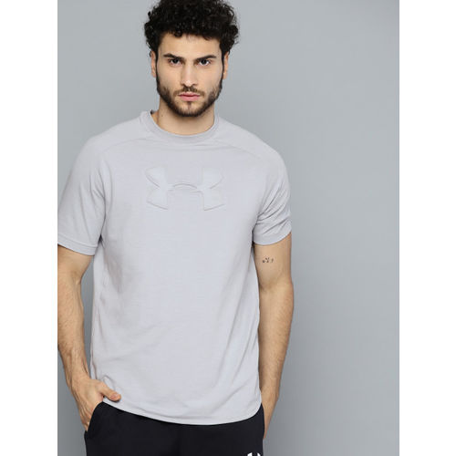 UNDER ARMOUR Men Grey Unstoppable Move Embossed Print T-Shirt