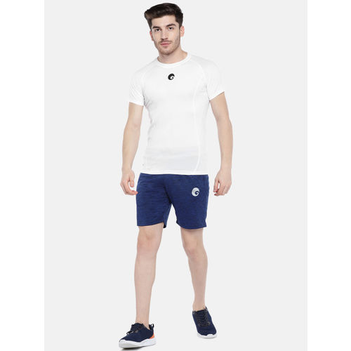 Omtex Men White Solid Round Neck T-shirt