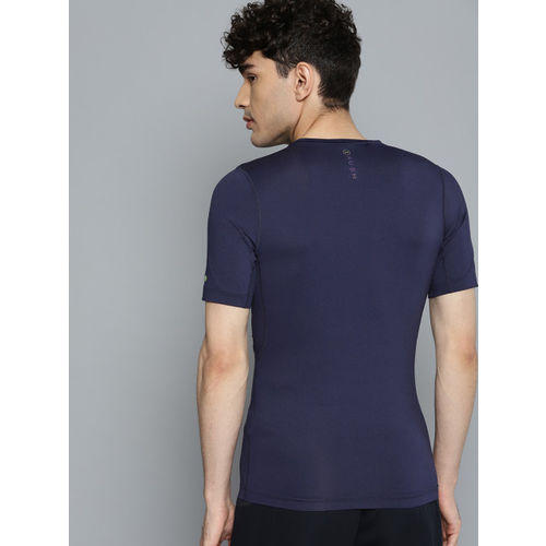 UNDER ARMOUR Men Navy Blue Rush Compression T-Shirt