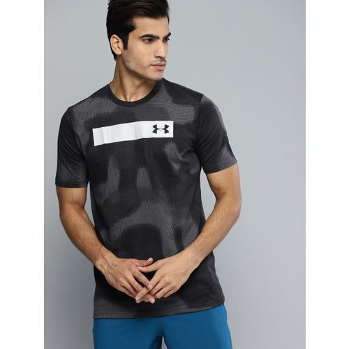 UNDER ARMOUR Men Grey Printed Bar T-Shirt