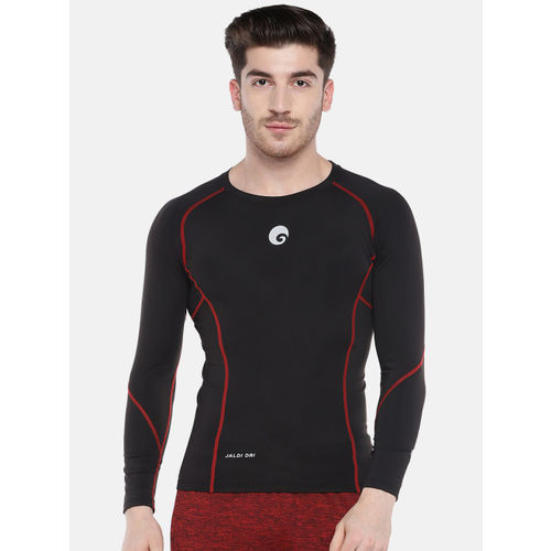 Omtex Men Black Solid Round Neck T-shirt
