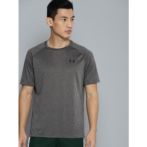UNDER ARMOUR Men Charcoal Grey Tech 2.0 SS T-shirt
