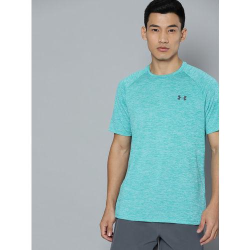 UNDER ARMOUR Men Blue Tech 2.0 Self Design Training T-Shirt