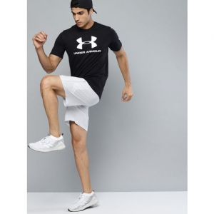 UNDER ARMOUR Men Black & White Sportstyle Logo Graphic Printed T-Shirt