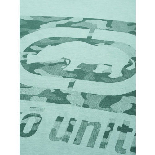 Ecko Unltd Men Turquoise Blue Printed Round Neck T-shirt