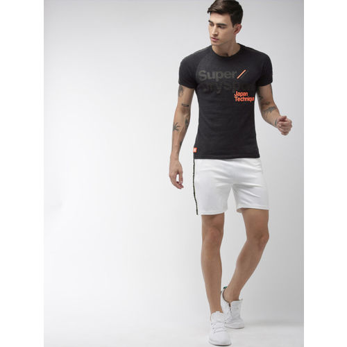 Superdry Sport Men Charcoal Printed Round Neck Technique T-shirt
