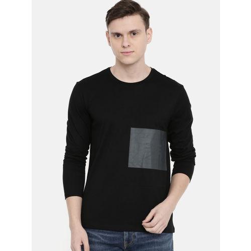 Buy Calvin Klein Jeans Men Black Printed Round Neck T shirt