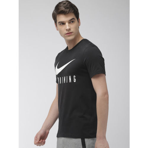 Nike Men Black Printed Dri-FIT Round Neck Standard Fit Training T-shirt
