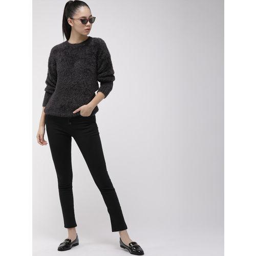 Levis Women Black Solid Sweater