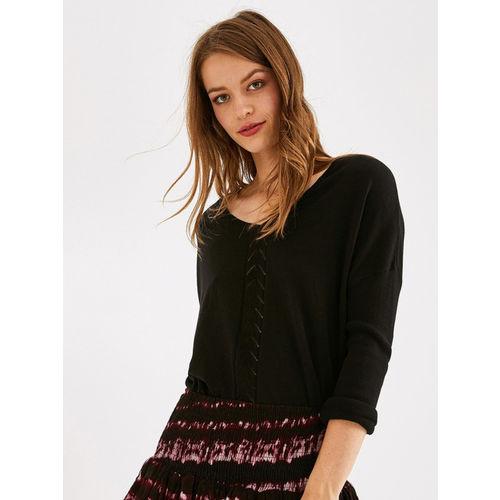 promod Women Black Solid Sweater