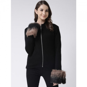 Club York Women Black Solid Sweater