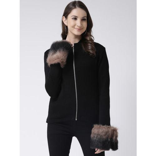 Club York Women Black Solid Sweater