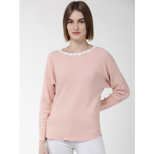 Fort Collins Women Pink Solid Sweater