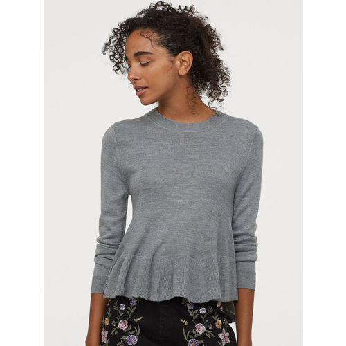 H&M Knitted Jumper With a Peplum