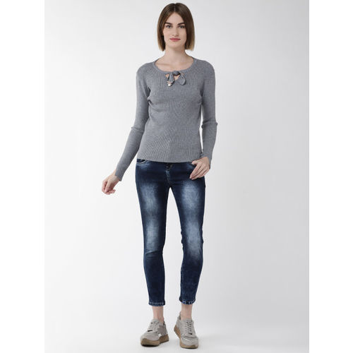 Fort Collins Women Grey Ribbed Sweater
