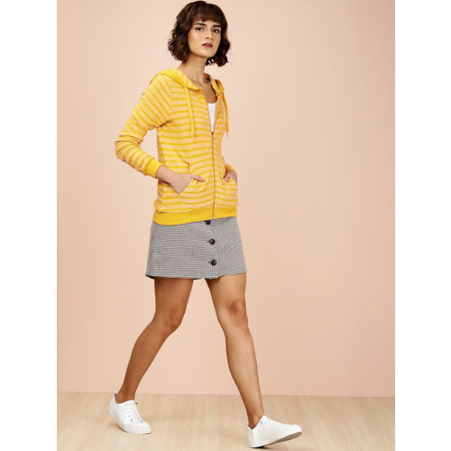 all about you Women Mustard Yellow Striped Sweater