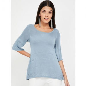 CODE by Lifestyle Women Blue Self Design Sweater