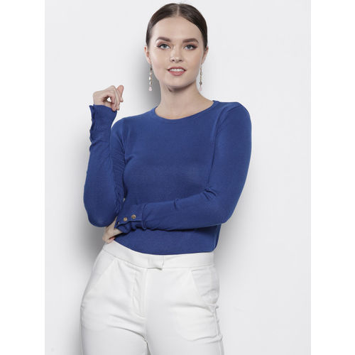 DOROTHY PERKINS Women Blue Solid Sweater
