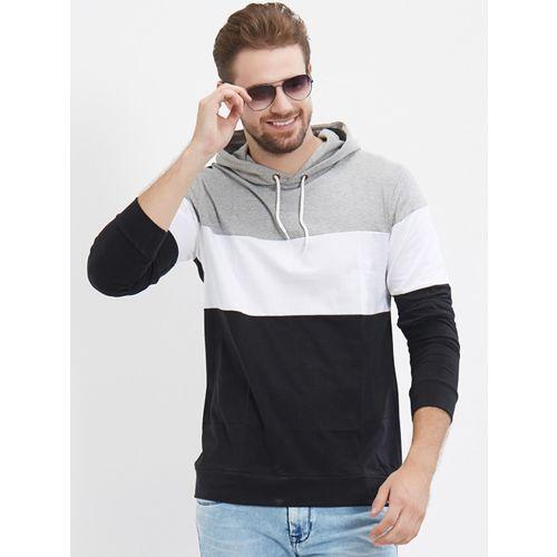 LEWEL Full Sleeve Color Block Men Sweatshirt
