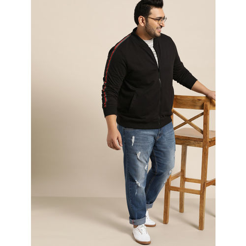 Sztori Men Black Solid Sweatshirt